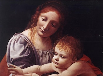 The Virgin and Child [detail #1] by Giovanni Antonio Boltraffio